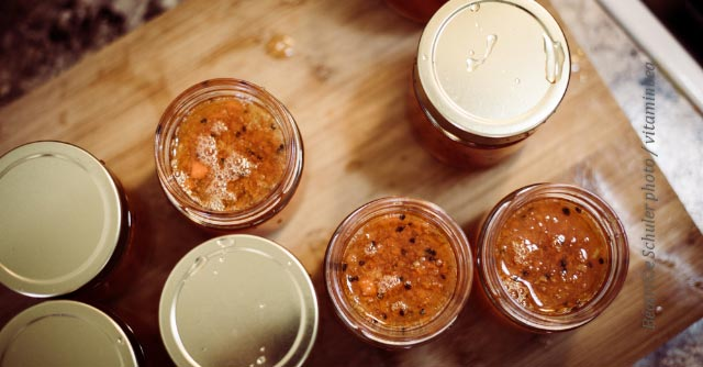Jars of carrot and cardamom jam